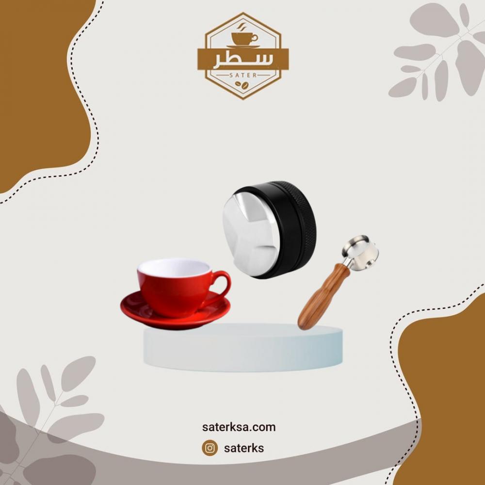 بكجات أدوات قهوة الاسبريسو بورتافلتر مكشوف وموزع قهوة وكوب سيراميك
