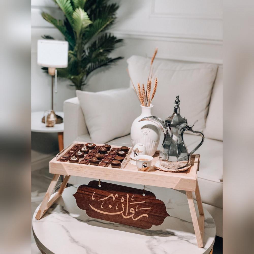 طاولة تقديم خشب