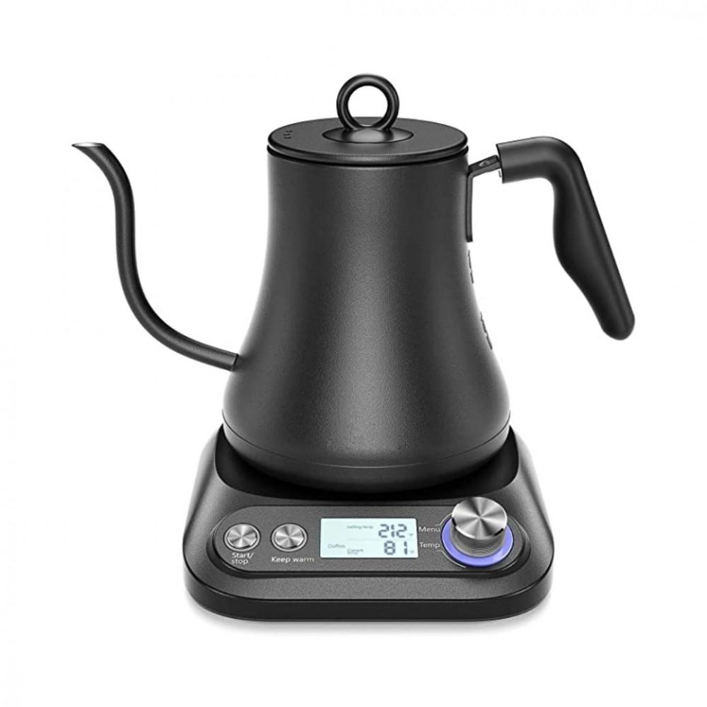 غلاية كهربائية للقهوة المقطرة لون اسود مع تثبيت درجة الحرارة