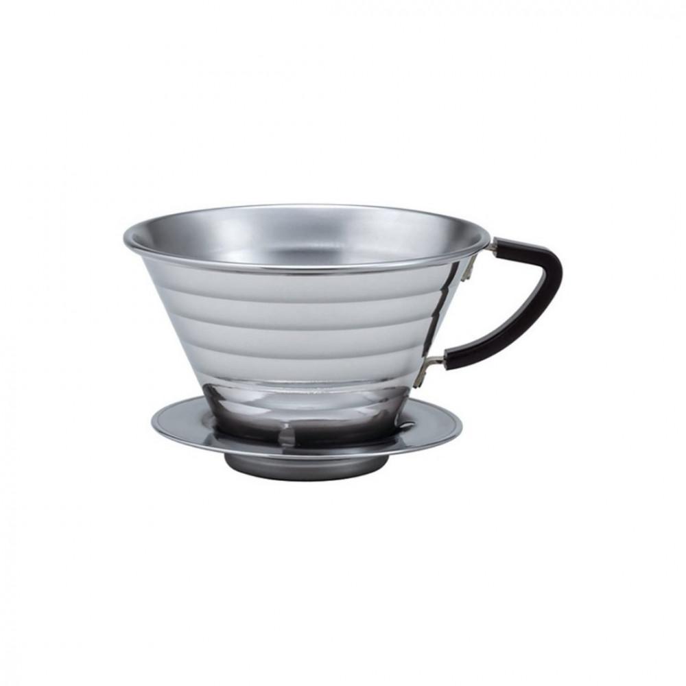 قمع ترشيح القهوة كاليتا للتقطير مقاس 185 من الستانس ستيل