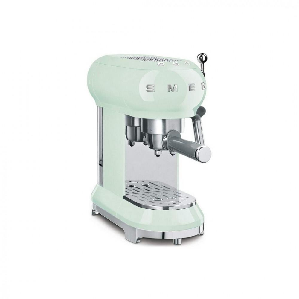 ماكينة سميج الايطالية لصنع القهوة والاسبريسو في المنزل لون اخضر SMEG