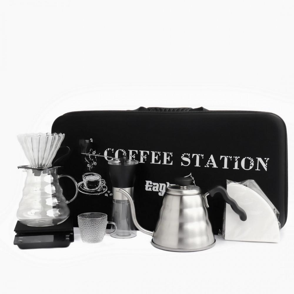 حقيبة القهوة المختصة V60 ادوات متكاملة من 7 قطع