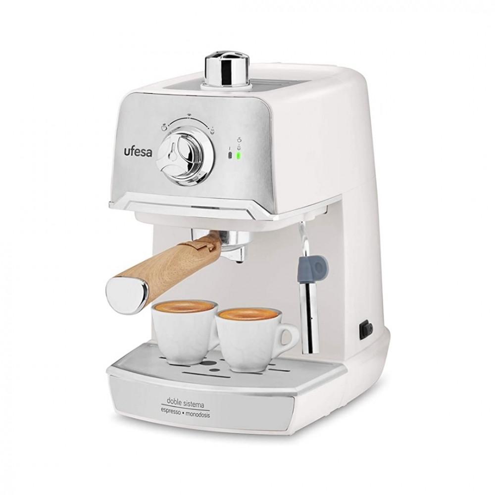 ماكينة القهوة الايطالية يوفيسا لتحضير الاسبريسو وتبخير الحليب لون ابيض