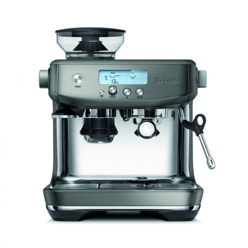 ماكينة قهوة مع مطحنة ماركة بريفيل برو لون رمادي