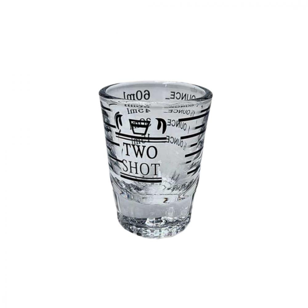 كوب معيار الاسبريسو زجاج حجم دبل شوت 60 مل