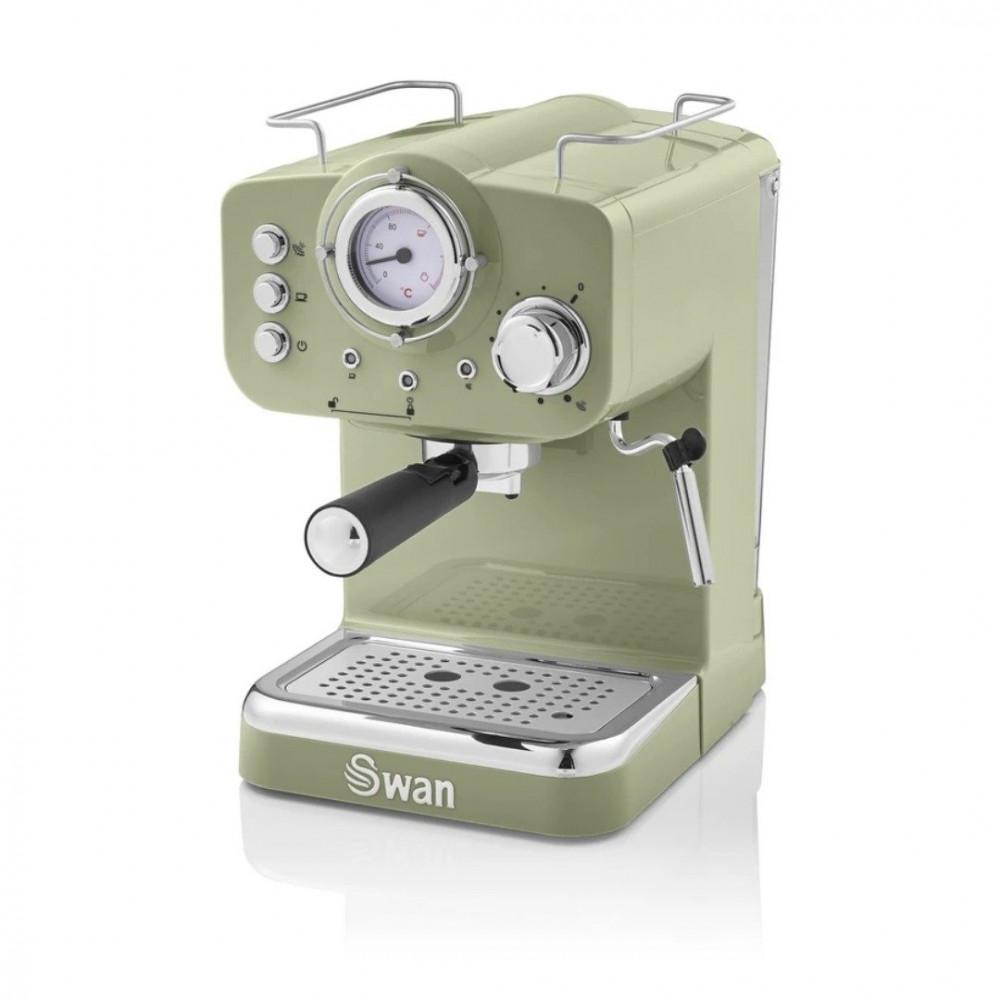 ماكينة قهوة مع تبخير الحليب ماركة سوان بلون اخضر