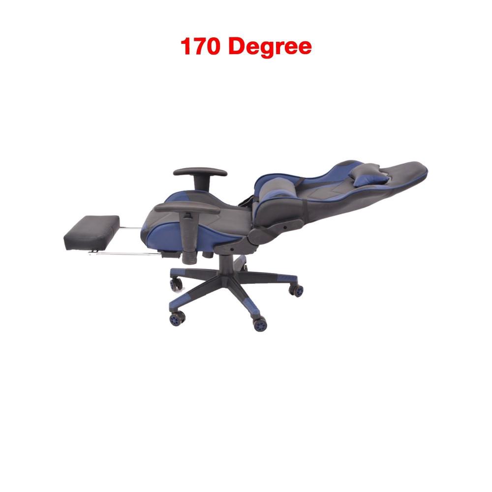 كرسي العاب كحلي مع مسند قدمين C-023-622-3 من كاما