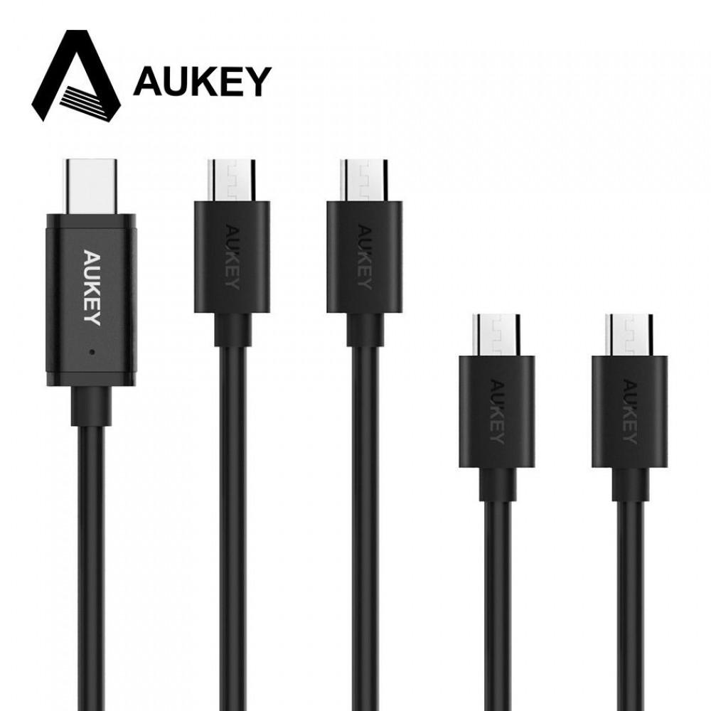 كيبل قماش AUKEY CABLE USB-C TO USB-C 2M