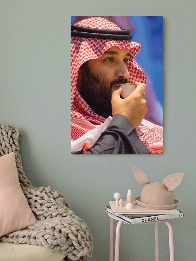 لوحة ولي العهد محمد بن سلمان خشب ام دي اف مقاس 40x60 سنتيمتر