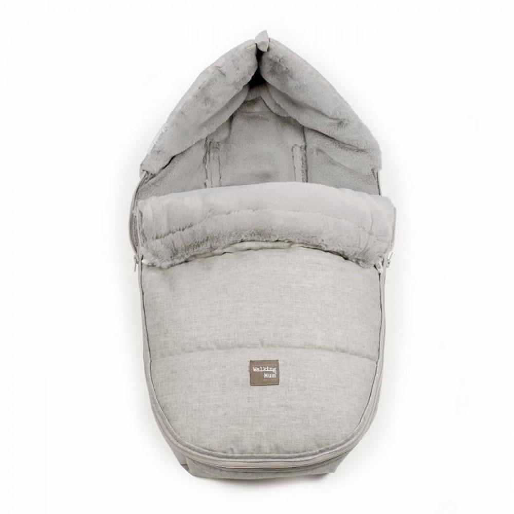 غطاء واقي من البرد لحديثي الولادة باللون الرمادي من ماركة Pasito A Pas
