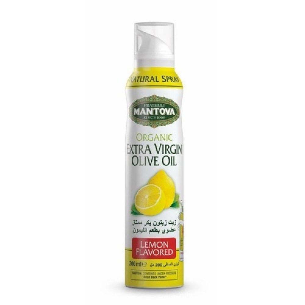 بخاخ زيت الزيتون بنكهة الليمون عضوي