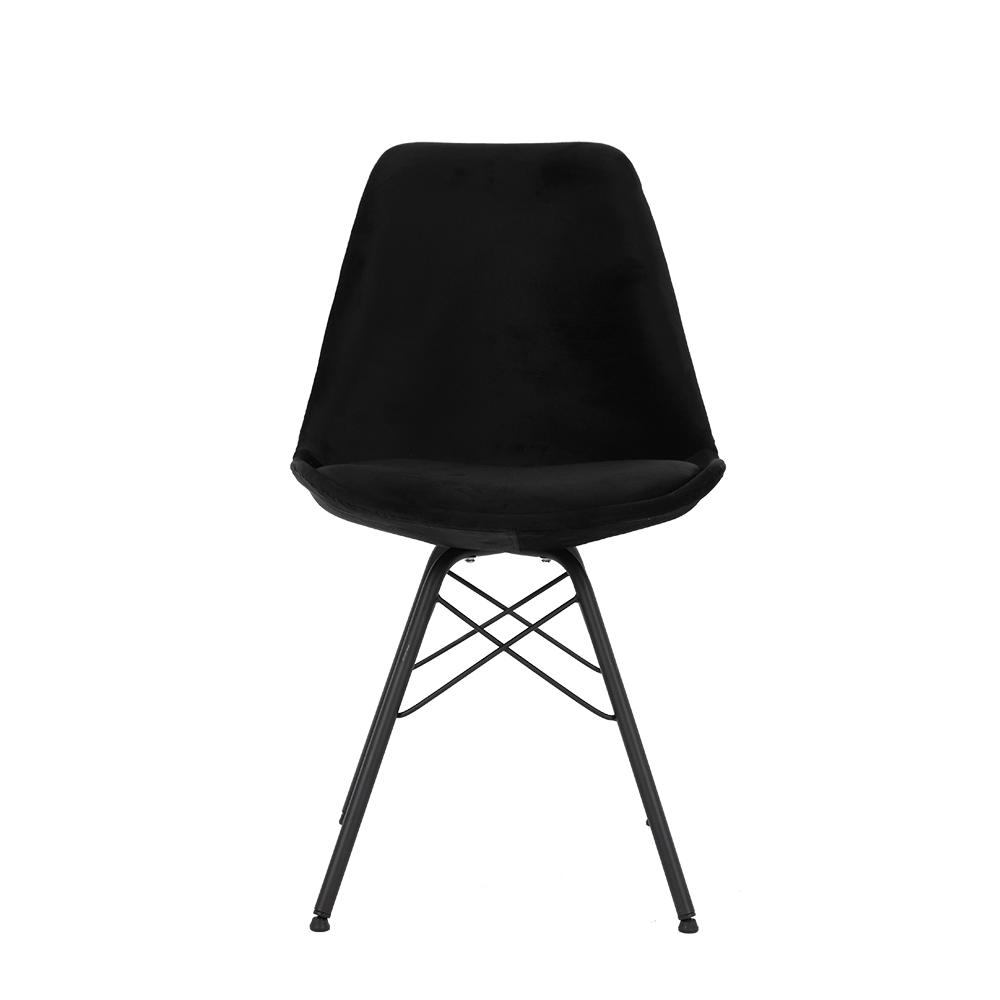 طقم كراسي 4 قطع أسود يحافظ على صحة ظهرك ومرونتك بالجلوس من متجر يوتريد