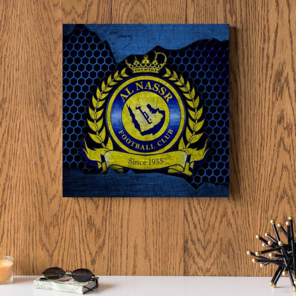 لوحه العالمي نادي النصر السعودي خشب ام دي اف مقاس 30x30 سنتيمتر
