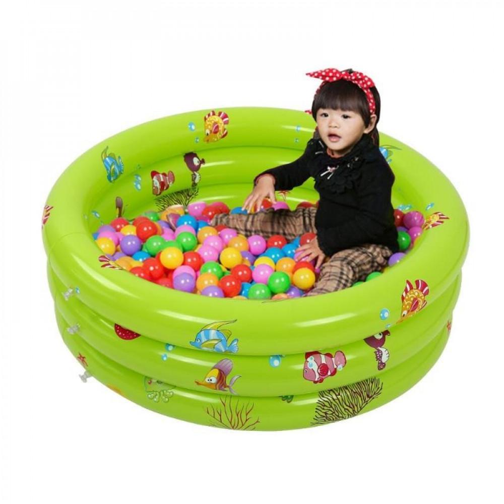 حوض سباحة واستحمام قابل للنفخ للأطفال للعب بالماء مقاس خارجي 70X28سم