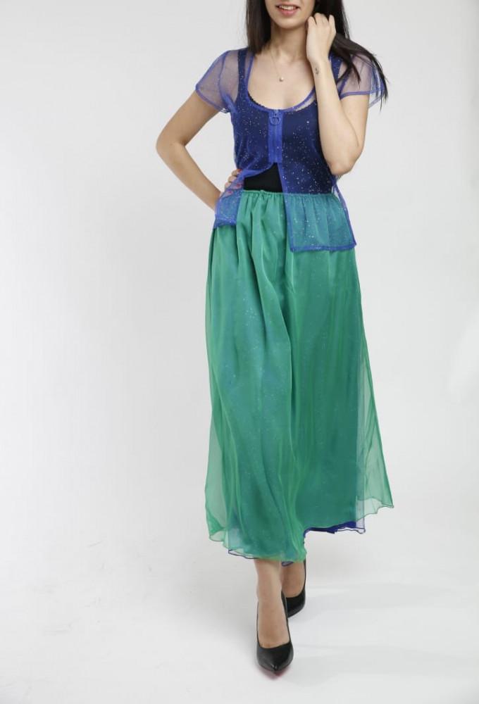 تنورة ميدي تل مع بلوزه تل من سيدرا مول ملابس نسائية 2020