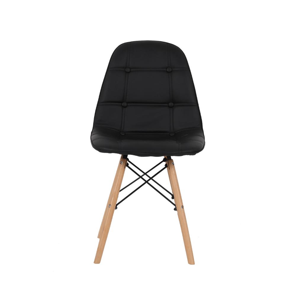 كرسي أنيق ضمن مجموعة كراسي طقم كراسي متين بلون أسود من متجر مواسم