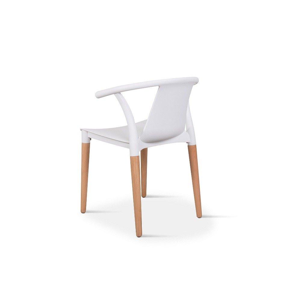 كرسي أنيق من طقم كراسي نيت هوم أبيض متوفر الآن في تجارة بلا حدود
