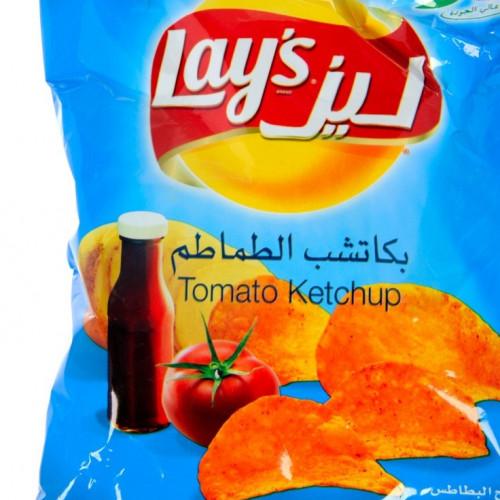ليز رقائق البطاطس بنكهة الكاتشب متاجر الشرق المواد الغذائية