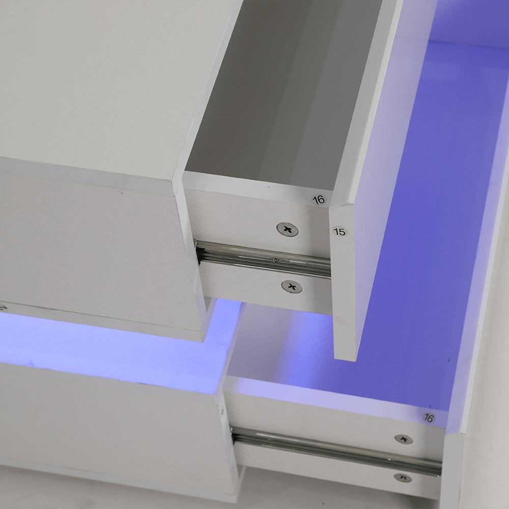 الأدراج في طاولة جانبية خشبية بخزانتين تعمل بمجرى لسهولة الحركة مواسم