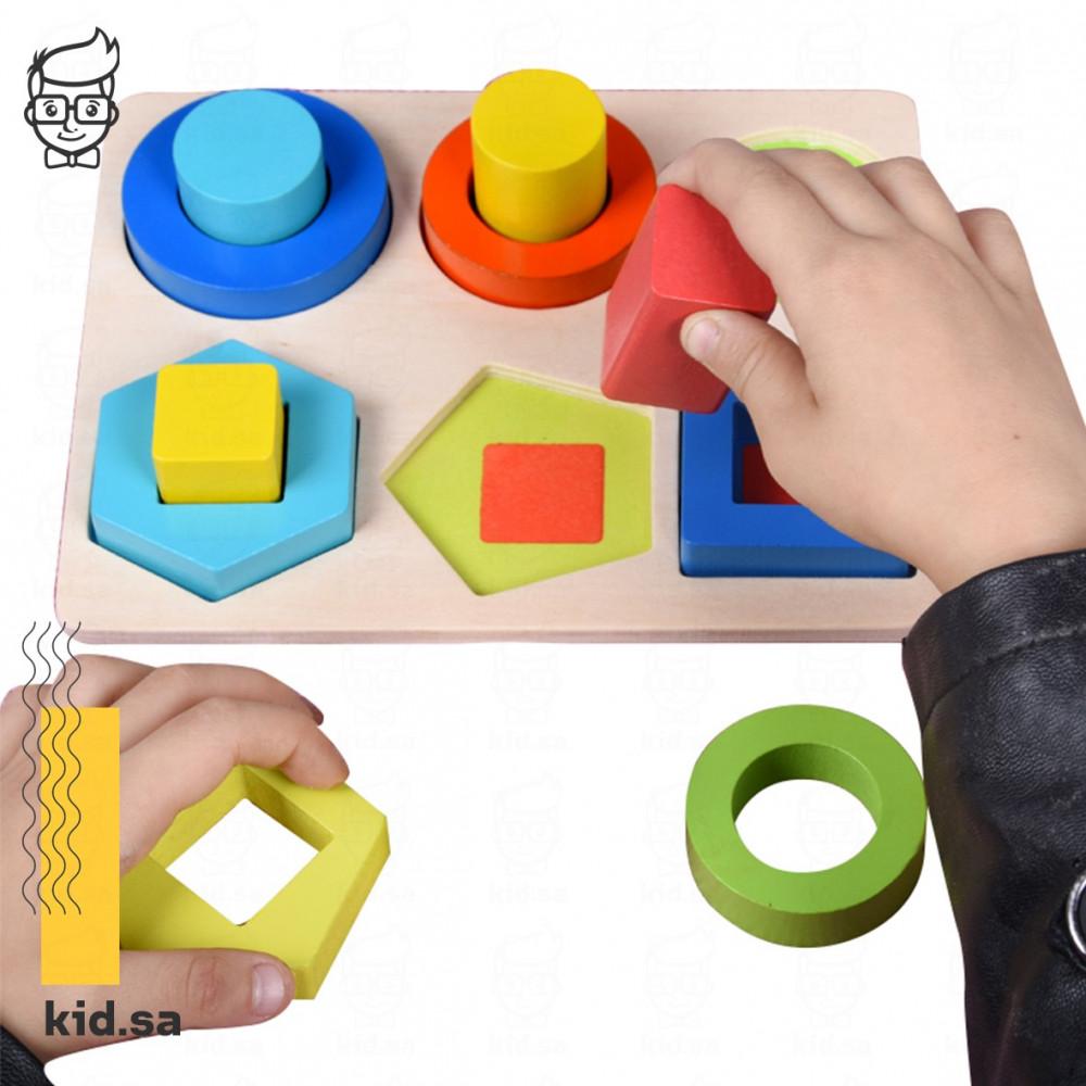 لعبة تركيز ادراكية للاطفال خشبية