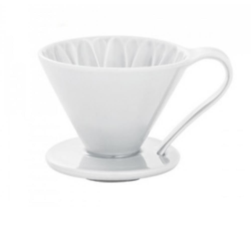 قمع ترشيح القهوة الابيض