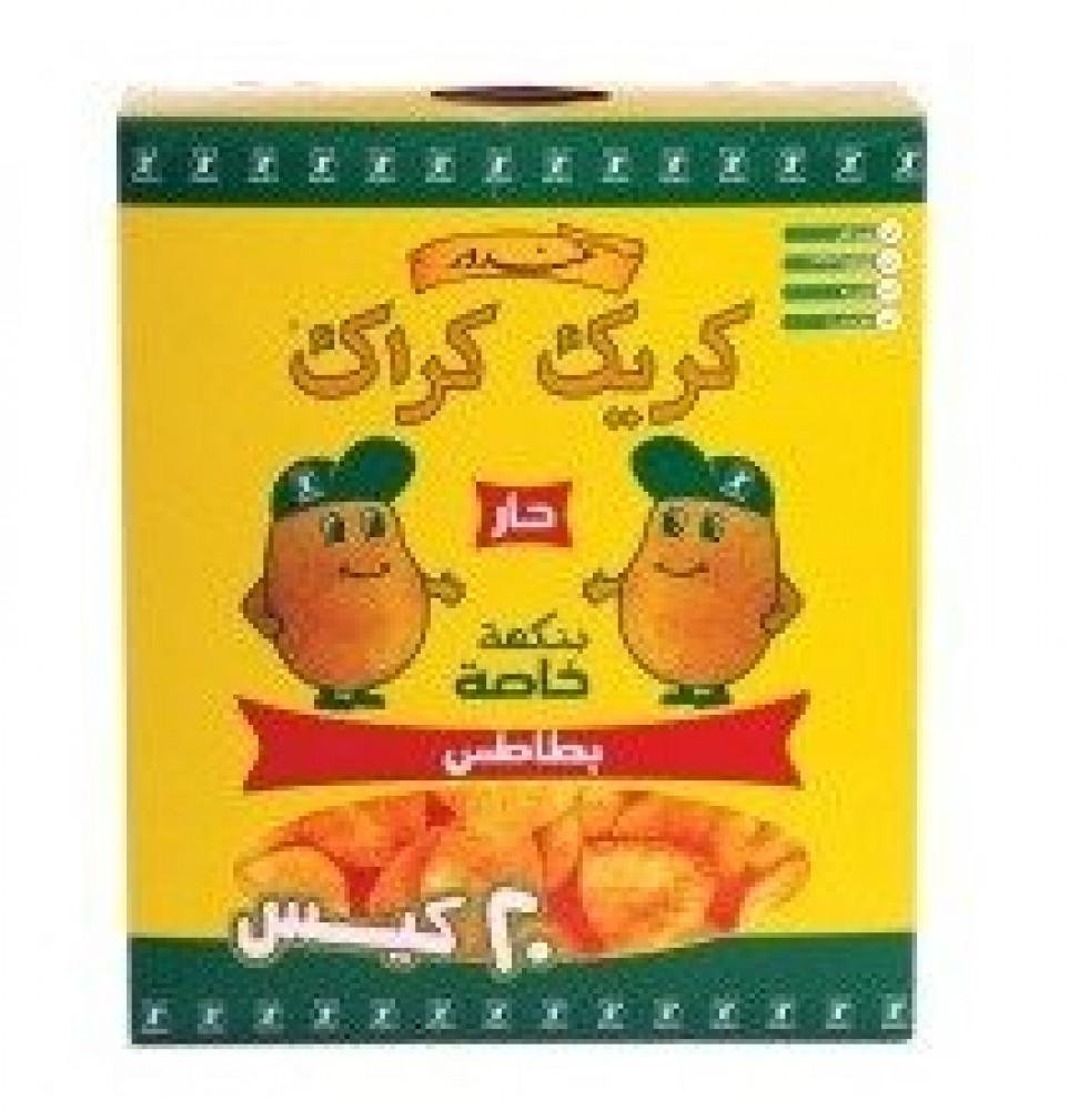 شيبس البطاطس كريك كراك نكهات خاصة أو الكاتشب  20 في 15 جرام