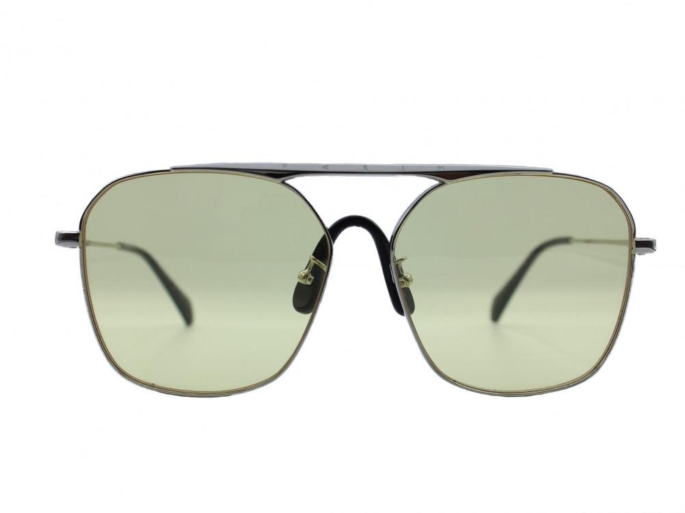 نظارة شمسية ماركة PARIM نسائي لون العدسة اصفر لون الاطار فضي و اسود تت