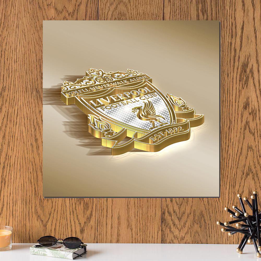 لوحة شعار نادي ليفربول خشب ام دي اف مقاس 30x30 سنتيمتر