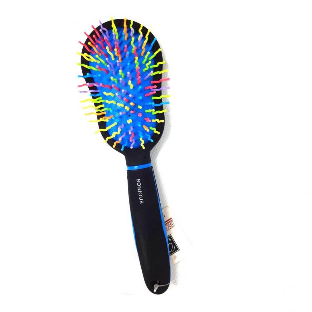فرشاة شعر فخمة بسنون ملونة وجذابة Luxurious hair brush is colorful and