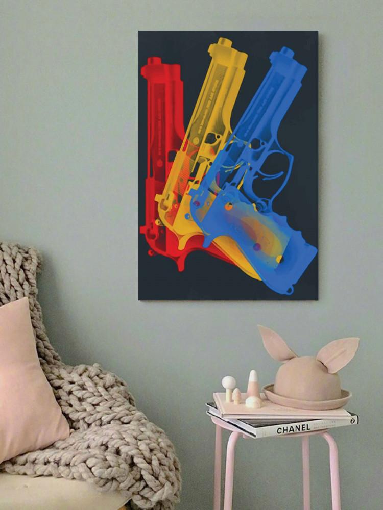 لوحة المسدسات خشب ام دي اف مقاس 40x60 سنتيمتر