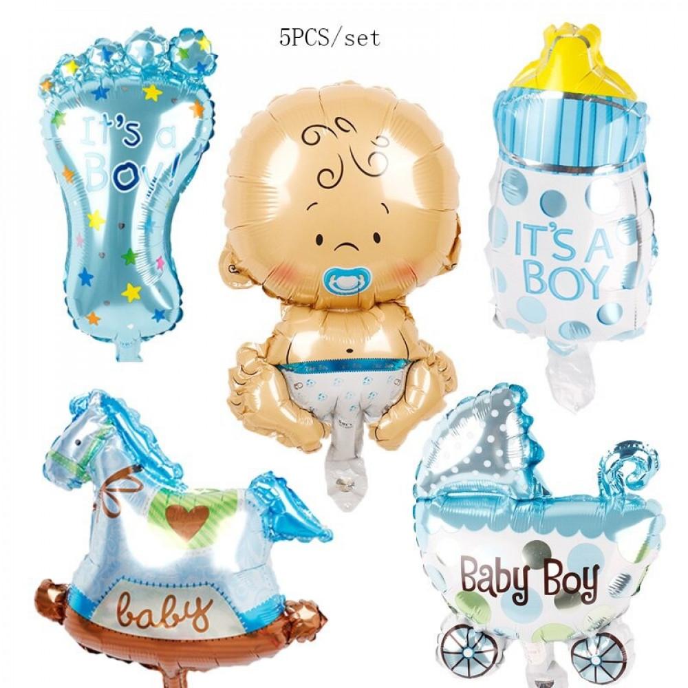 بالون هيليوم نوع الجنين صبي ازرق