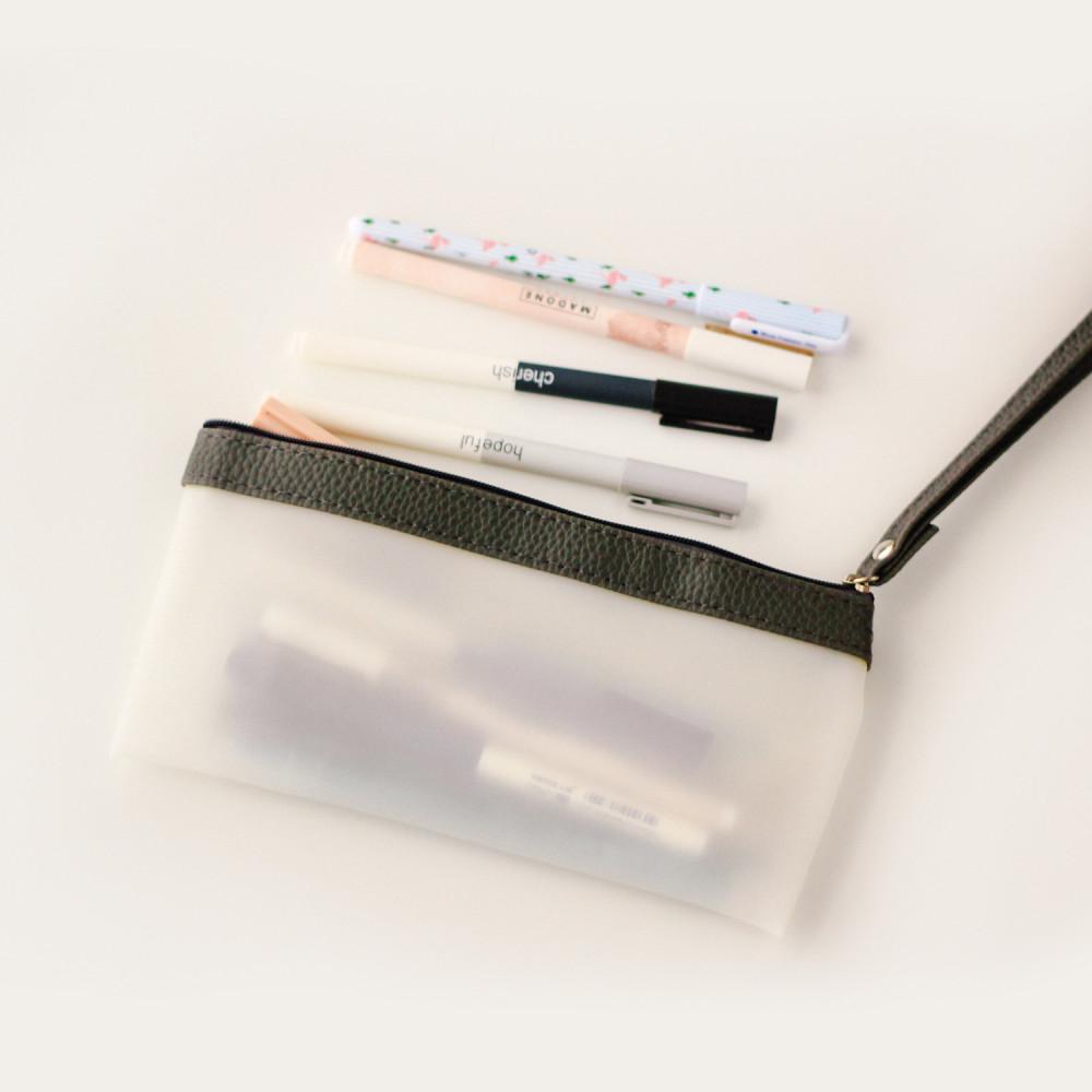 مقلمات مقلمة مدرسية أدوات مكتبية أدوات مدرسية مقلمة بسحاب شفافة مكتبة