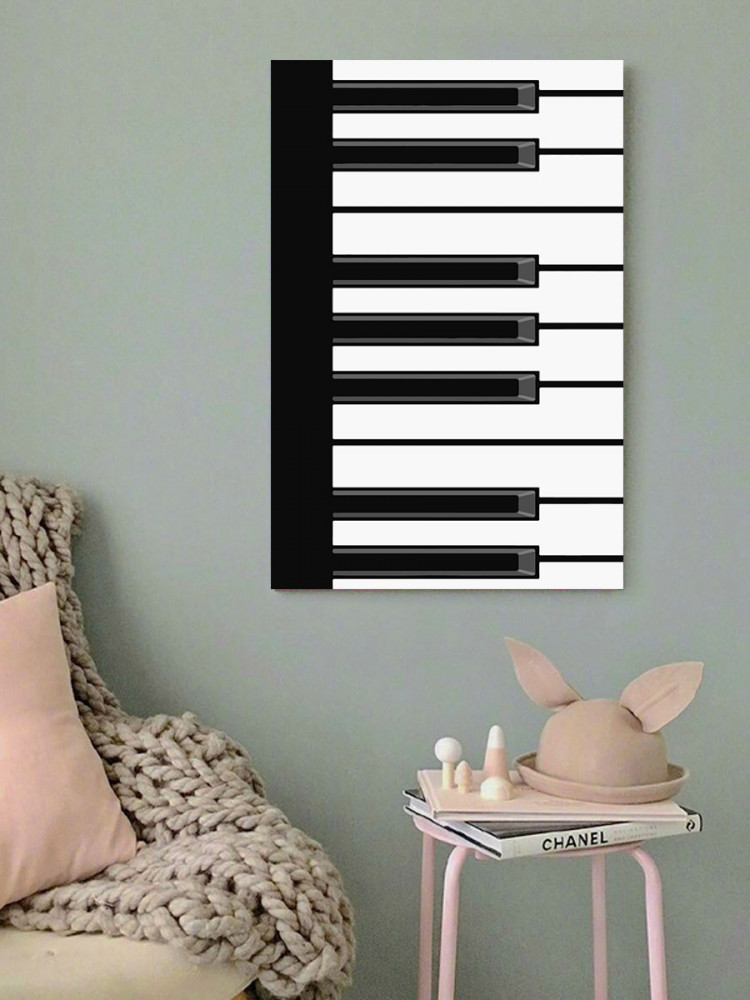لوحة بيانو خشب ام دي اف مقاس 40x60 سنتيمتر