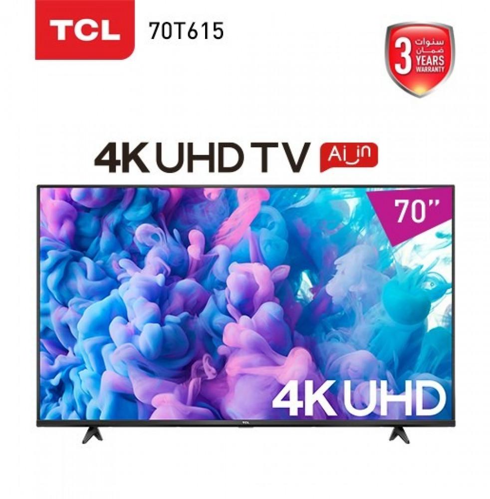 شاشه تي سي ال سمارت 70 بوصه TCL 70T615 70 4K Ultra HD LED Android TV