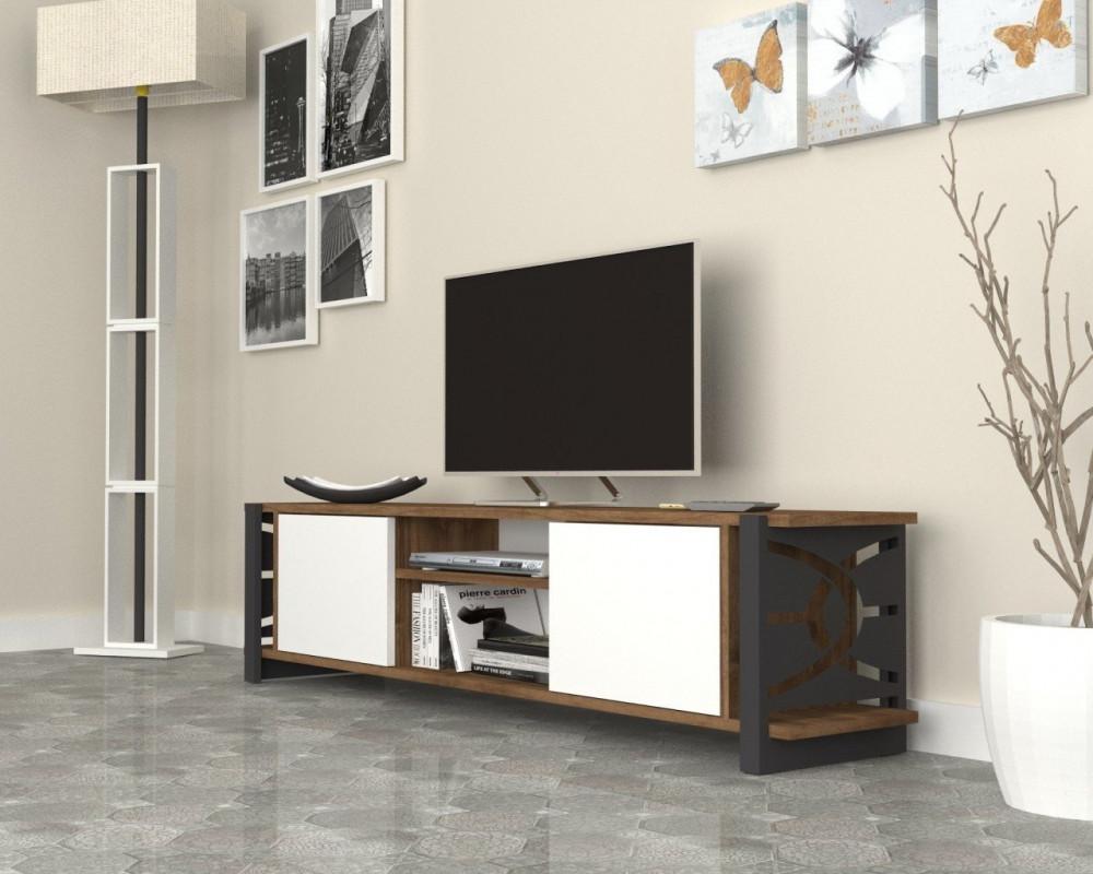 تجارة بلا حدود طاولة تلفاز أنيقة وعصرية التناغم بين الألوان الطاولة