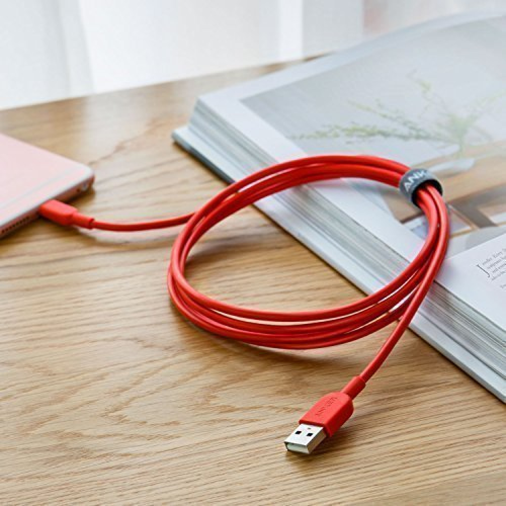 Anker Powerline II Lightning Cable Red