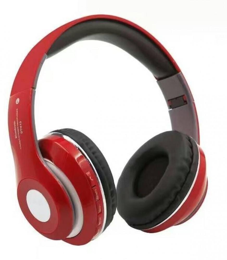 سماعات بلوتوث لاسلكية قابلة للطي موديل STN13 احمر