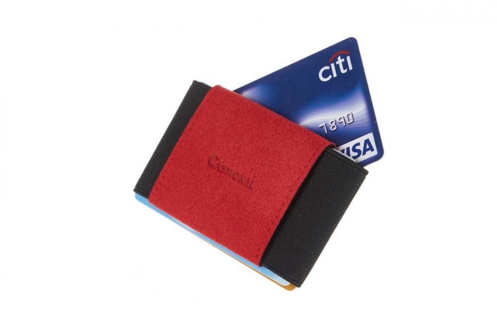 محفظة بطاقات casmonal كاسمونال الرفيعه - red - متجر أصلي