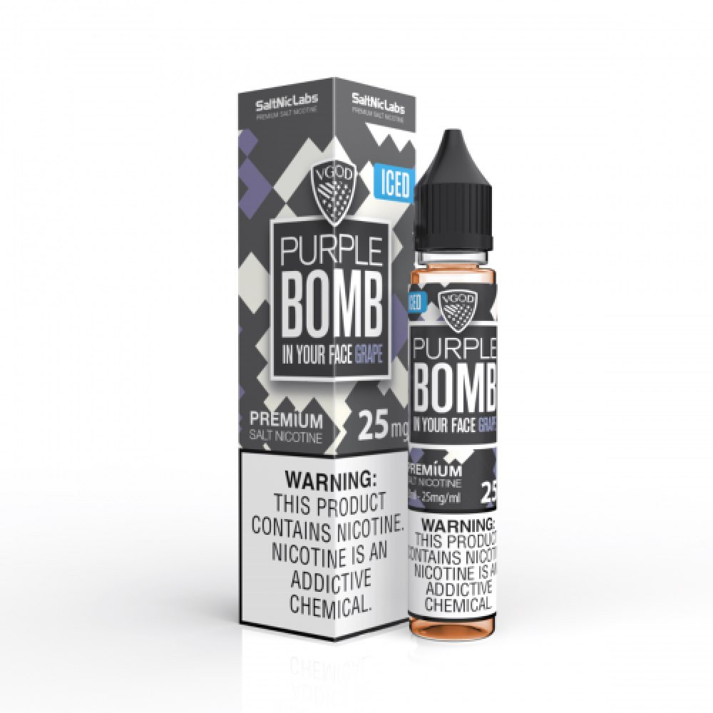 نكهة فيقود ايس بربل بومب سولت نيكوتين VGOD PURPLE BOMB ICED Salt