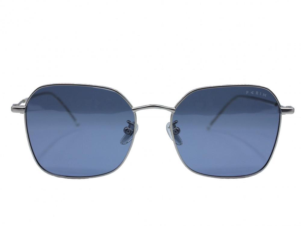نظاره شمسية مربعه من ماركة PARIM لون العدسة ازرق للجنسين  فاخرة 2021