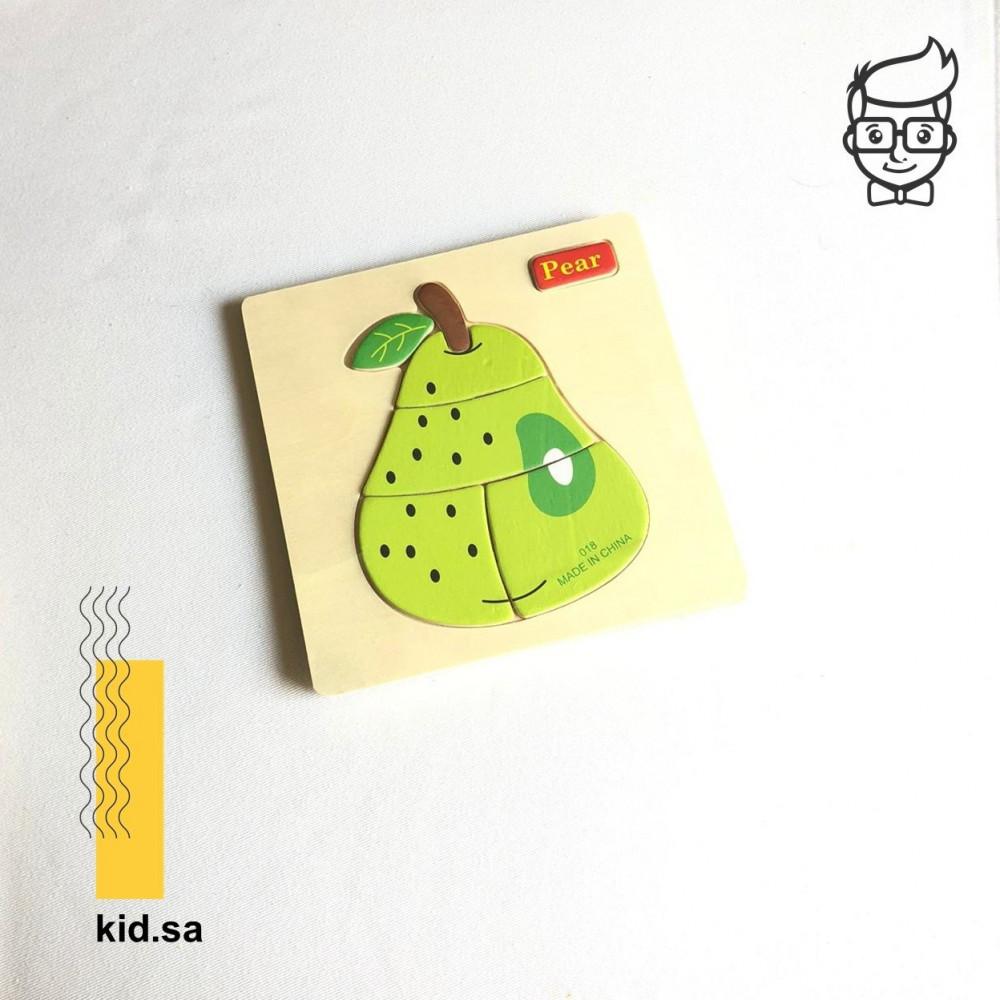 العاب بزل الفواكة للاطفال شكل جوافة خضراء