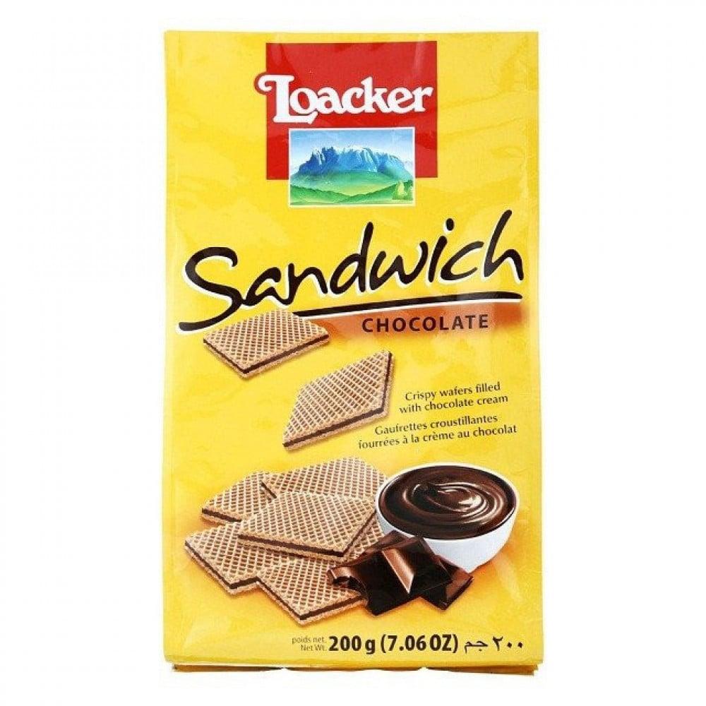 قطع بسكويت لواكر بالشوكولاتة 200 جرام متجر حلاوة