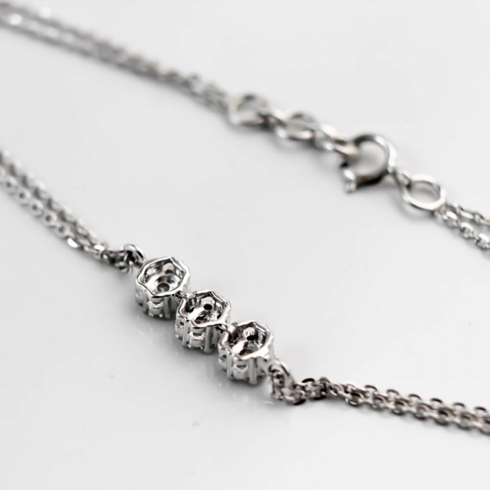 أسوارة الماس فلورال عيار 18