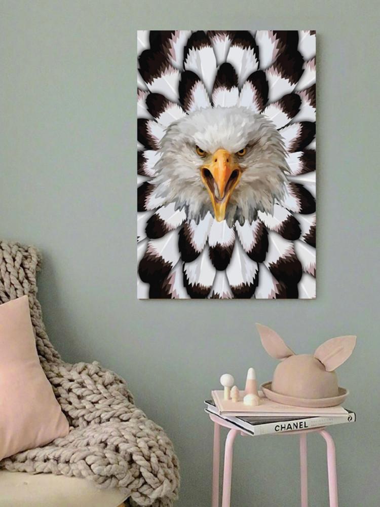 لوحة الصقر خشب ام دي اف مقاس 40x60 سنتيمتر