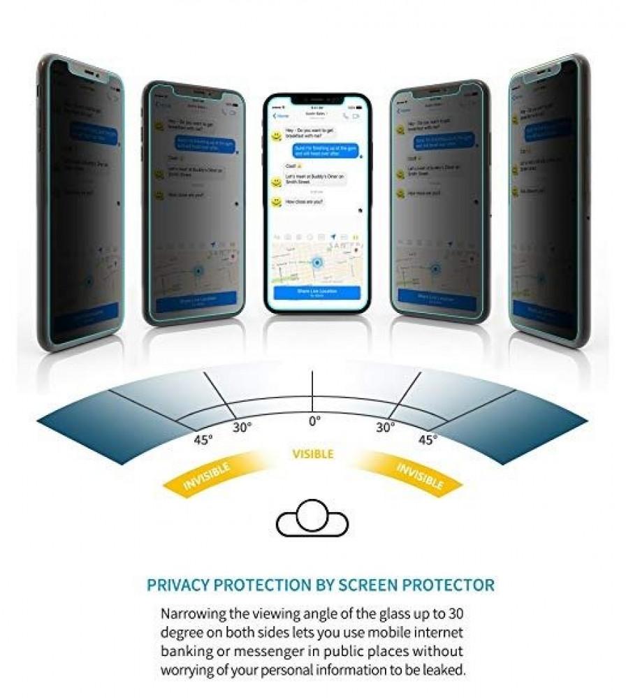 استكر حماية مع خصوصية لكامل الشاشة 3D لأيفون XR من جوبوكي