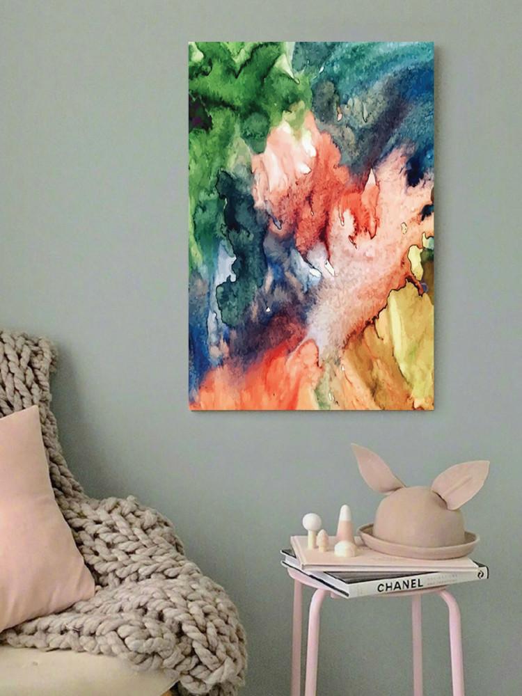 لوحة ألوان مائية خشب ام دي اف مقاس 40x60 سنتيمتر