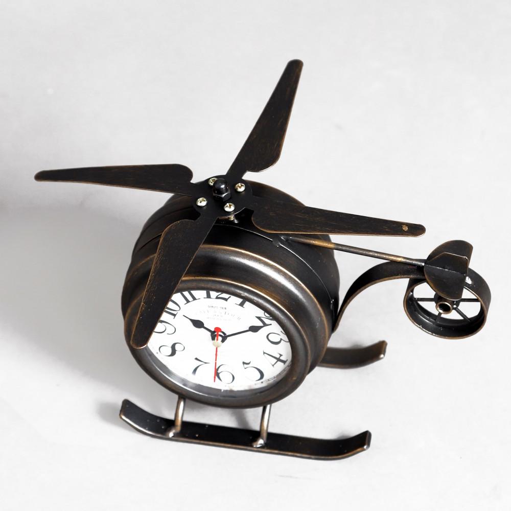 جمال التصميم ساعة طاولة أنتيكة موديل بلان وان شكل الطائرة صناعة معدنية