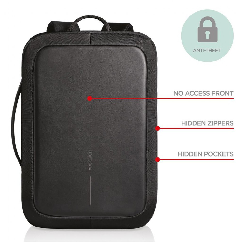 Bobby Bizz Anti theft Backpack Briefcase