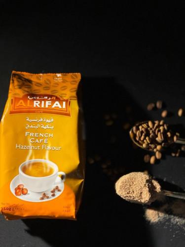 قهوة فرنسية بنكهة البندق 250g متجر مكرملة لعشاق القهوة والشوكولاتة
