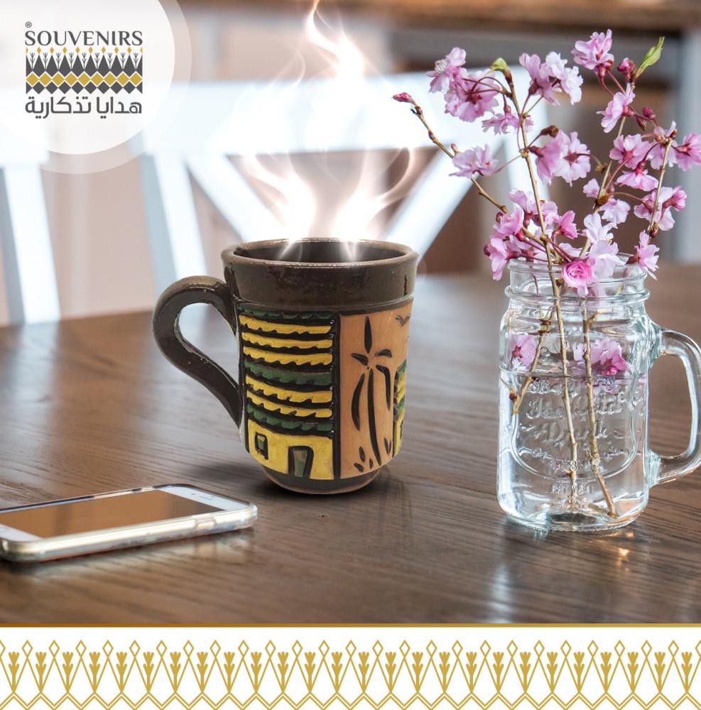 كوب قهوة فخار